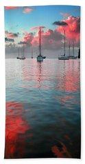 Red Clouds Beach Towel