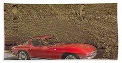 Red Corvette Beach Sheet