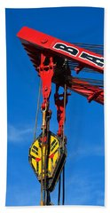 Red Crane - Photography By William Patrick And Sharon Cummings Beach Towel by Sharon Cummings