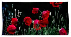 Beach Towel featuring the photograph Red Dance by Edgar Laureano