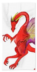 Red Dragon Beach Towel
