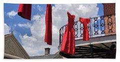 Red Dress Lineup  Beach Towel