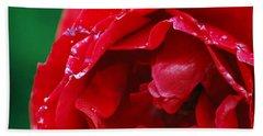 Red Flower Wet Beach Sheet by Matt Harang