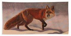 Red Fox Beach Towel