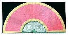 Red Gold Fan Beach Sheet