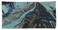 Red Horse Road Beach Towel by Phil Chadwick