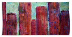 Red In The City Beach Towel