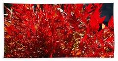 Red Leaves Beach Towel