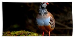Red-legged Partridge Beach Towel