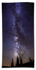 Red Mountain Milky Way Beach Towel
