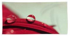 Red Petals Beach Sheet