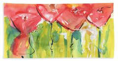 Red Poppy Party Beach Towel