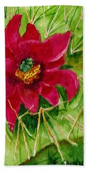 Red Prickly Pear Beach Towel