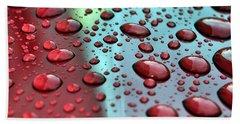 Red Rain Beach Sheet