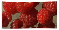 Red Raspberries Beach Towel