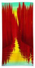 Red Reed River Beach Towel