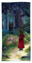 Red Riding Hood Beach Sheet