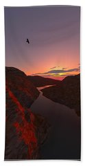 Red River... Beach Towel by Tim Fillingim