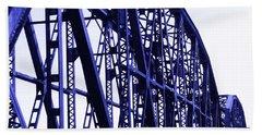 Beach Sheet featuring the photograph Red River Train Bridge #5 by Robert ONeil