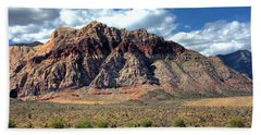 Beach Towel featuring the photograph Red Rock by Andrea Platt
