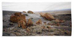 Red Rock Coulee II Beach Towel by Leanna Lomanski