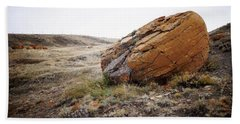 Red Rock Coulee IIi Beach Towel by Leanna Lomanski