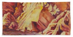 Red Rocks Beach Towel by Michele Myers