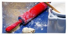 Red Rolling Pin Beach Towel