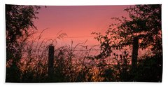 Beach Towel featuring the photograph Red Sky At Night by Liz  Alderdice