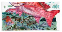 Red Snapper Beach Towel