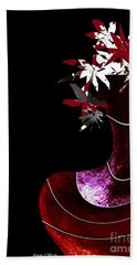 Red Vase Beach Towel