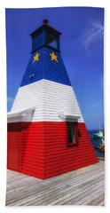Red White And Blue Lighthouse Beach Towel