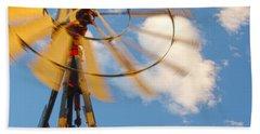 Red Wind Windmill Beach Sheet