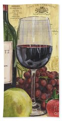 Red Wine And Pear Beach Towel