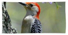Redbud With Woodpecker Beach Sheet