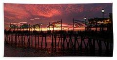 Redondo Beach Pier At Sunset Beach Towel