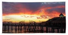 Redondo Pier Sunset Beach Towel