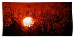 Beach Sheet featuring the photograph Redorange Sunset by Matt Harang