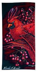 Reds Beach Towel by Linda Simon