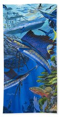 Reef Frenzy Off00141 Beach Towel by Carey Chen