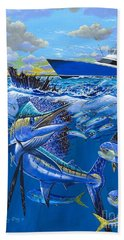 Reef Sail Off00151 Beach Towel by Carey Chen