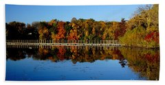 Refection Fall In Prior Lake Mn Beach Towel