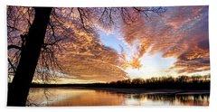 Reflected Glory Beach Sheet by Cricket Hackmann