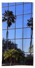 Beach Towel featuring the photograph Reflected Window by Rosalie Scanlon