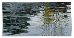 Beach Towel featuring the photograph Reflecting On Autumn Trees by Georgia Mizuleva