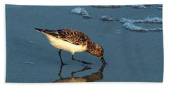 Reflection At Sunset Beach Towel