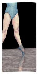 Beach Towel featuring the painting Reflection En Pointe by Dee Dee  Whittle