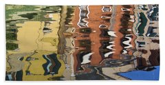 Reflection In A Venician Canal Beach Towel
