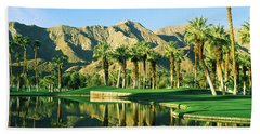 Reflection Of Trees On Water In A Golf Beach Sheet by Panoramic Images