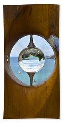 Reflections In A Glass Ball Beach Sheet